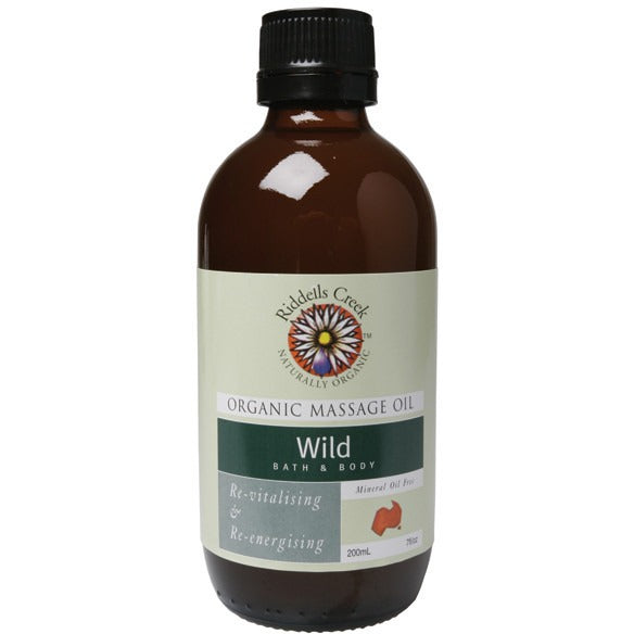 Riddells Creek Massage Oil Wild 200ml - Essentially Health Online Vegan Health Store Afterpay