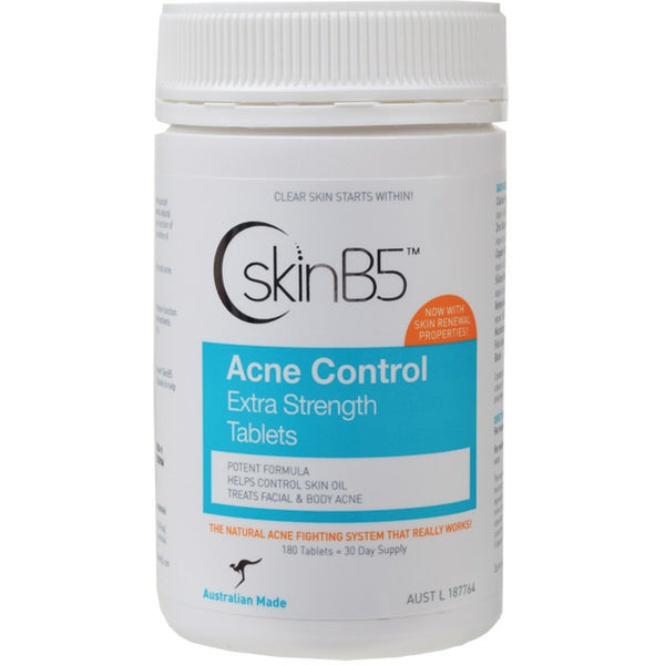 Skin B5 Acne Control Extra Strength Tablets (180 tablets) - Essentially Health Online Vegan Health Store