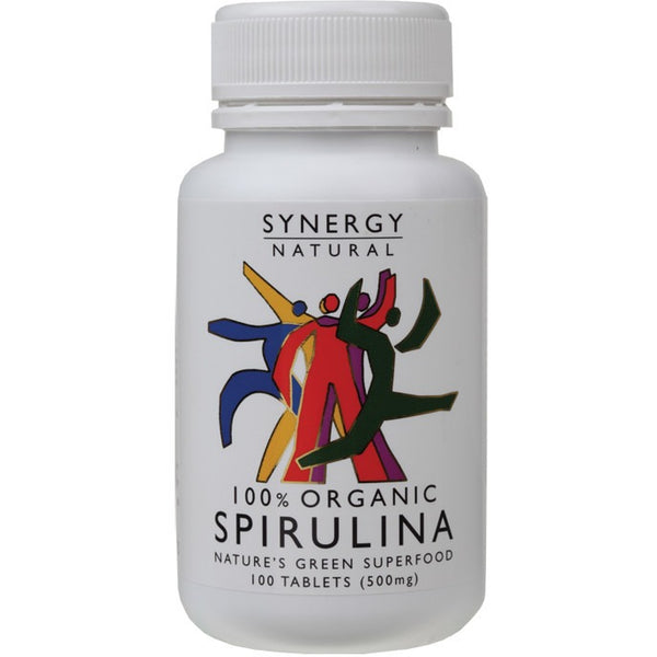 Synergy Organic Spirulina 100 Tablets (500mg) - Essentially Health Online Vegan Health Store Afterpay