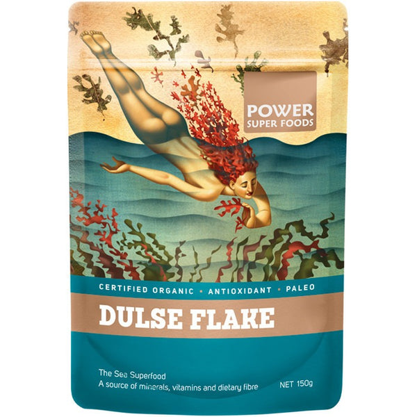 "Power Super Foods Dulse Flakes ""The Origin Series"" 150g - Essentially Health Online Vegan Health Store"