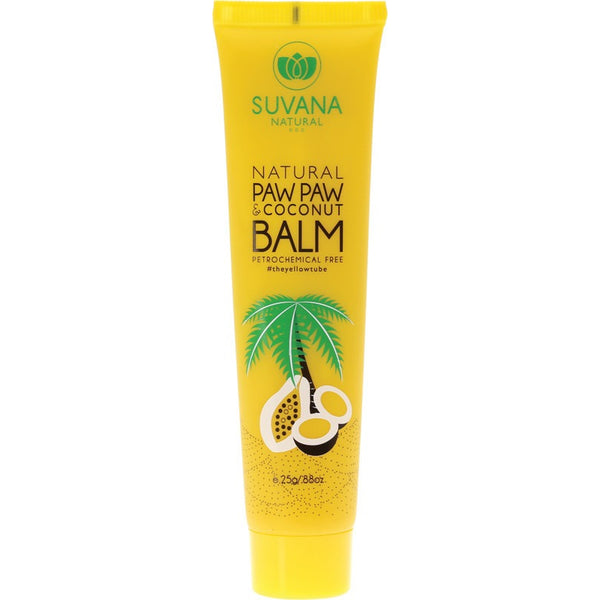 Suvana Lip Balm + Coconut - 25g - Essentially Health Online Vegan Health Store Afterpay