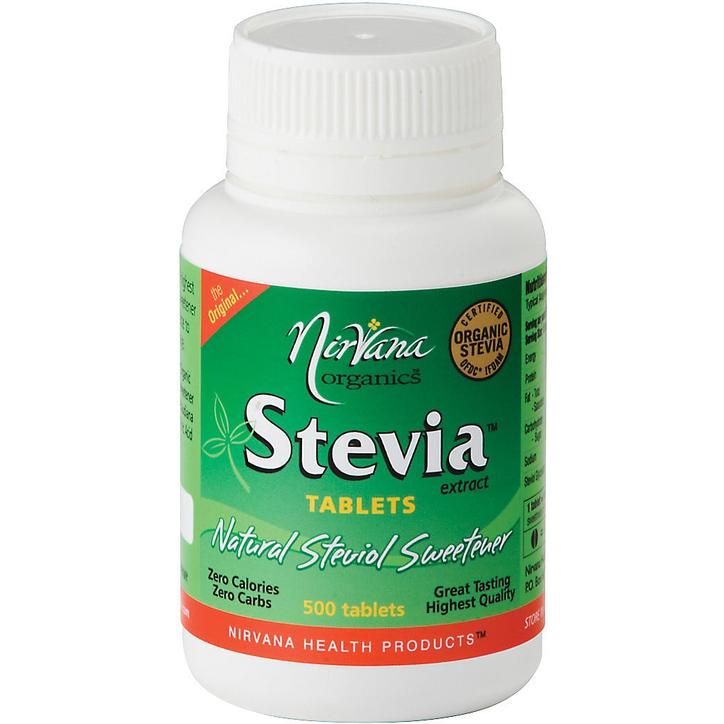 Nirvana Organics Stevia Tablets (500 tablets) - Essentially Health Online Vegan Health Store
