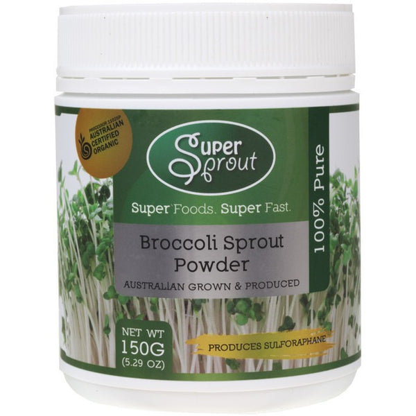 Super Sprout Broccoli Sprout Powder 150g - Essentially Health Online Vegan Health Store Afterpay
