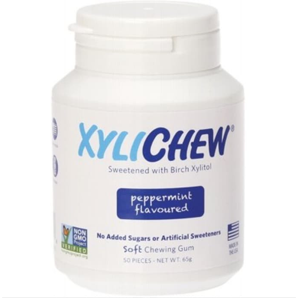 Xylichew Soft Chewing Gum Peppermint - 50 pcs - Essentially Health Online Vegan Health Store Afterpay