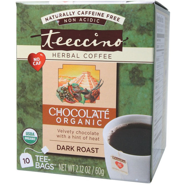 Teeccino Herbal Coffee Bags Chocolate 10 bags - Essentially Health Online Vegan Health Store Afterpay