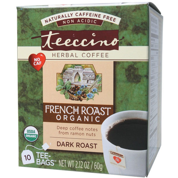 Teeccino Herbal Coffee Bags French Roast 10 bags - Essentially Health Online Vegan Health Store Afterpay