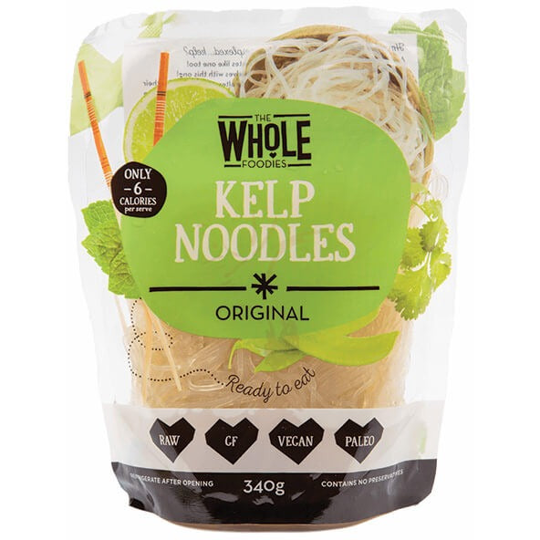 The Whole Foodies Kelp Noodles Original 340g - Essentially Health Online Vegan Health Store
