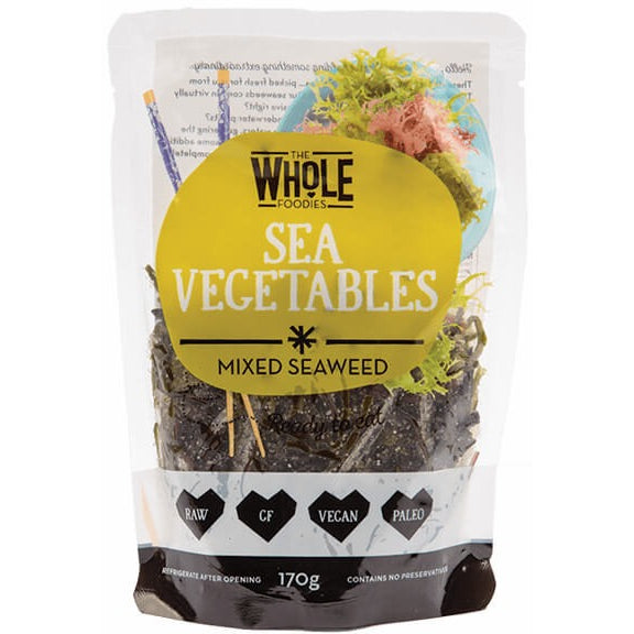 The Whole Foodies Sea Vegetables Mixed Seaweed 170g - Essentially Health Online Vegan Health Store