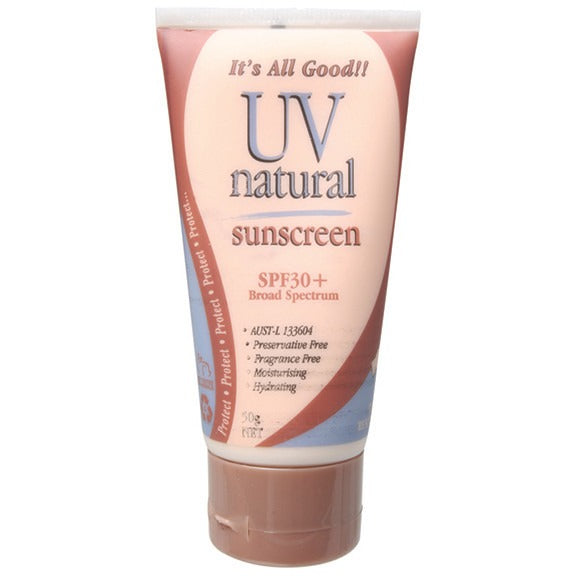 Uv Natural Sunscreen Natural SPF 30+ 50g - Essentially Health Online Vegan Health Store