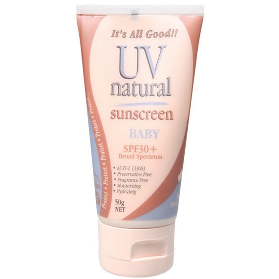 Uv Natural Baby Sunscreen SPF 30+ 50g - Essentially Health Online Vegan Health Store