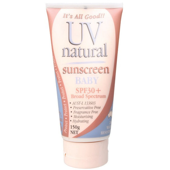 Uv Natural Baby Sunscreen SPF 30+ 150g - Essentially Health Online Vegan Health Store Afterpay