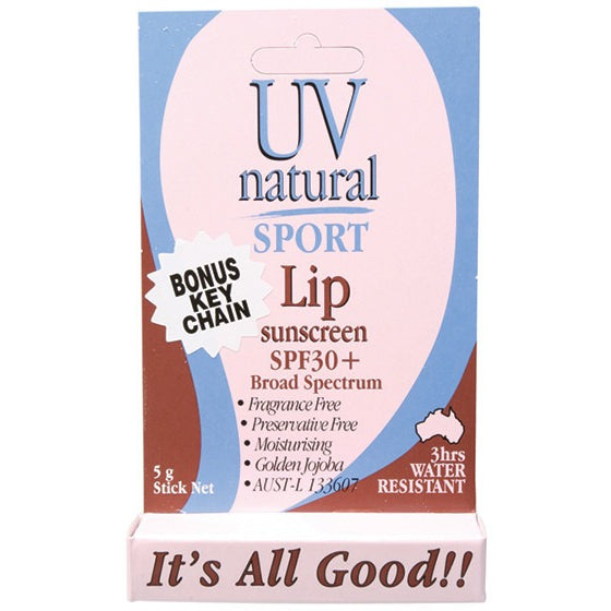 Uv Natural Lip Sunscreen Sport SPF 30+ 5g - Essentially Health Online Vegan Health Store Afterpay