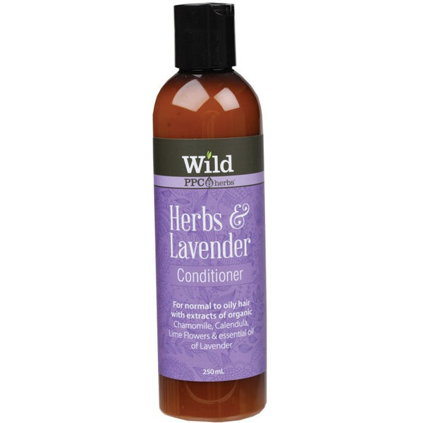 Wild Conditioner Herbs & Lavender 250ml - Essentially Health Online Vegan Health Store Afterpay