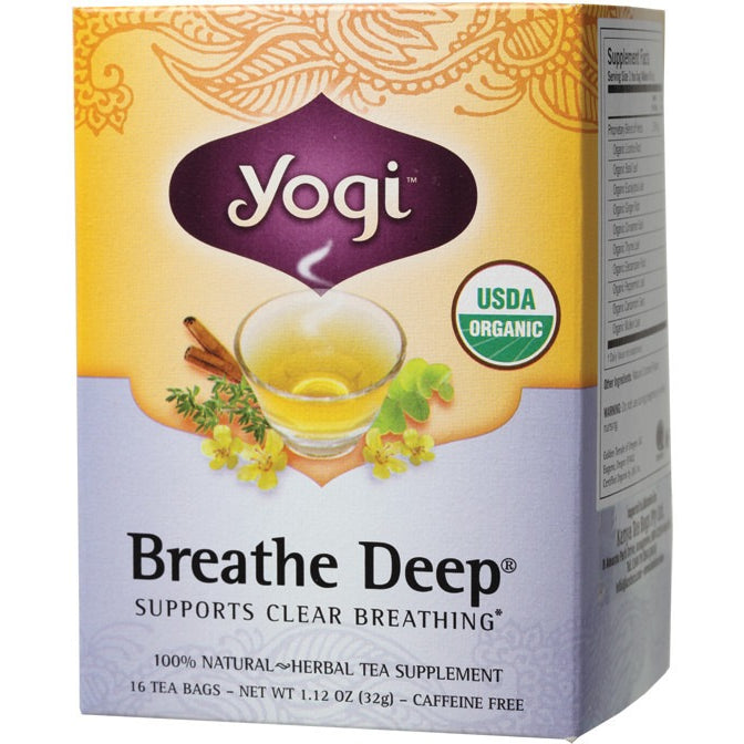 Yogi Tea Herbal Tea Bags Breathe Deep 16 bags - Essentially Health Online Vegan Health Store Afterpay