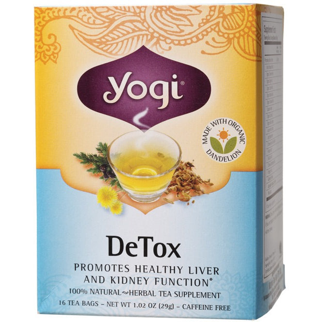 Yogi Tea Herbal Tea Bags DeTox 16 bags - Essentially Health Online Vegan Health Store Afterpay