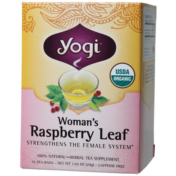 Yogi Tea Herbal Tea Bags Woman's Raspberry Leaf 16 bags - Essentially Health Online Vegan Health Store Afterpay