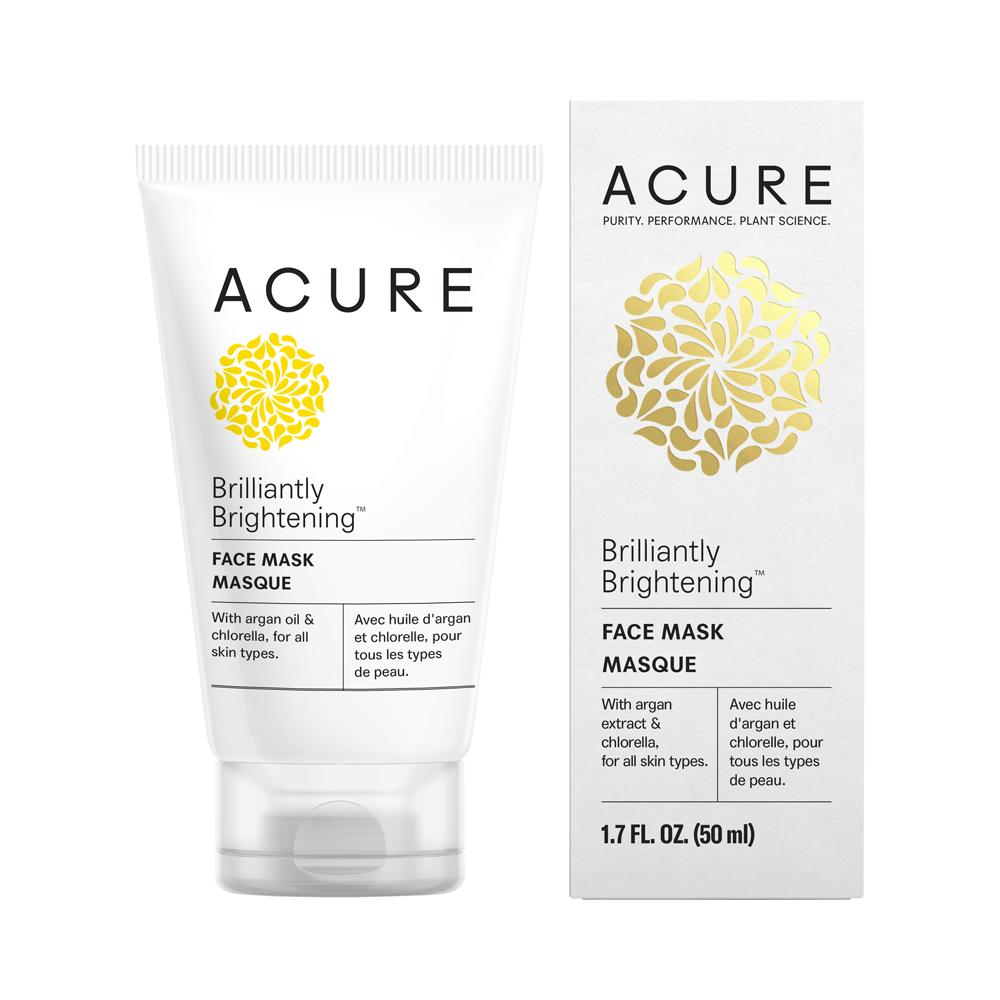 Acure Brilliantly Brightening Face Mask 50ml - Essentially Health Online Vegan Health Store Afterpay