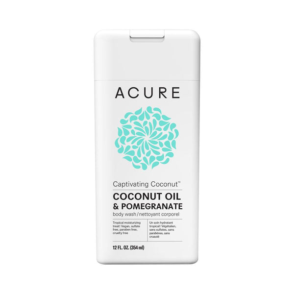 Acure Captivating Coconut Body Wash 354ml - Essentially Health Online Vegan Health Store Afterpay