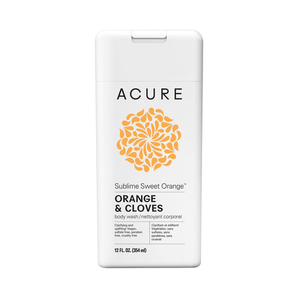 Acure Sublime Sweet Orange Body Wash 354ml - Essentially Health Online Vegan Health Store Afterpay
