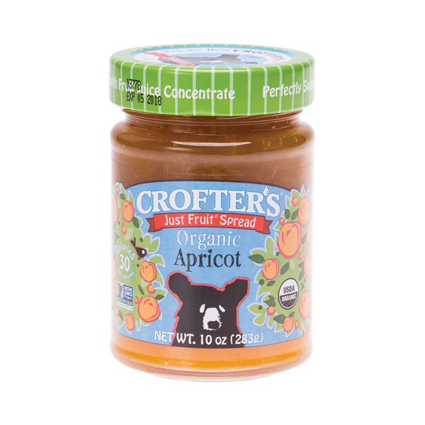 Crofter's Just Fruit Spread Organic Apricot - 283g - Essentially Health Online Vegan Health Store Afterpay