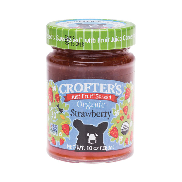 Crofter's Just Fruit Spread Organic Strawberry - 283g - Essentially Health Online Vegan Health Store Afterpay