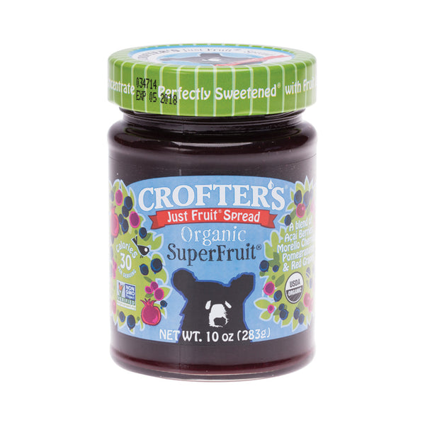 Crofter's Just Fruit Spread Organic Superfruit - 283g - Essentially Health Online Vegan Health Store Afterpay