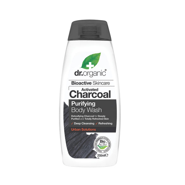 Dr Organic Activated Charcoal Purifying Body Wash 250ml - Essentially Health Online Vegan Health Store Afterpay