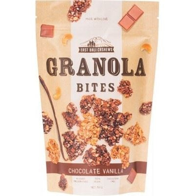 East Bali Cashews Chocolate & Vanilla Granola Bites 150g - Essentially Health Online Vegan Health Store
