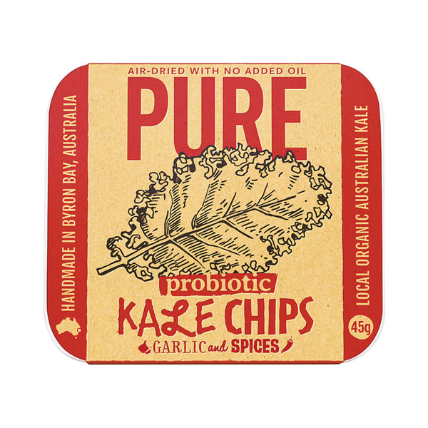 Extraordinary Foods Kale Chips Garlic and Spices 45g - Essentially Health Online Vegan Health Store Afterpay