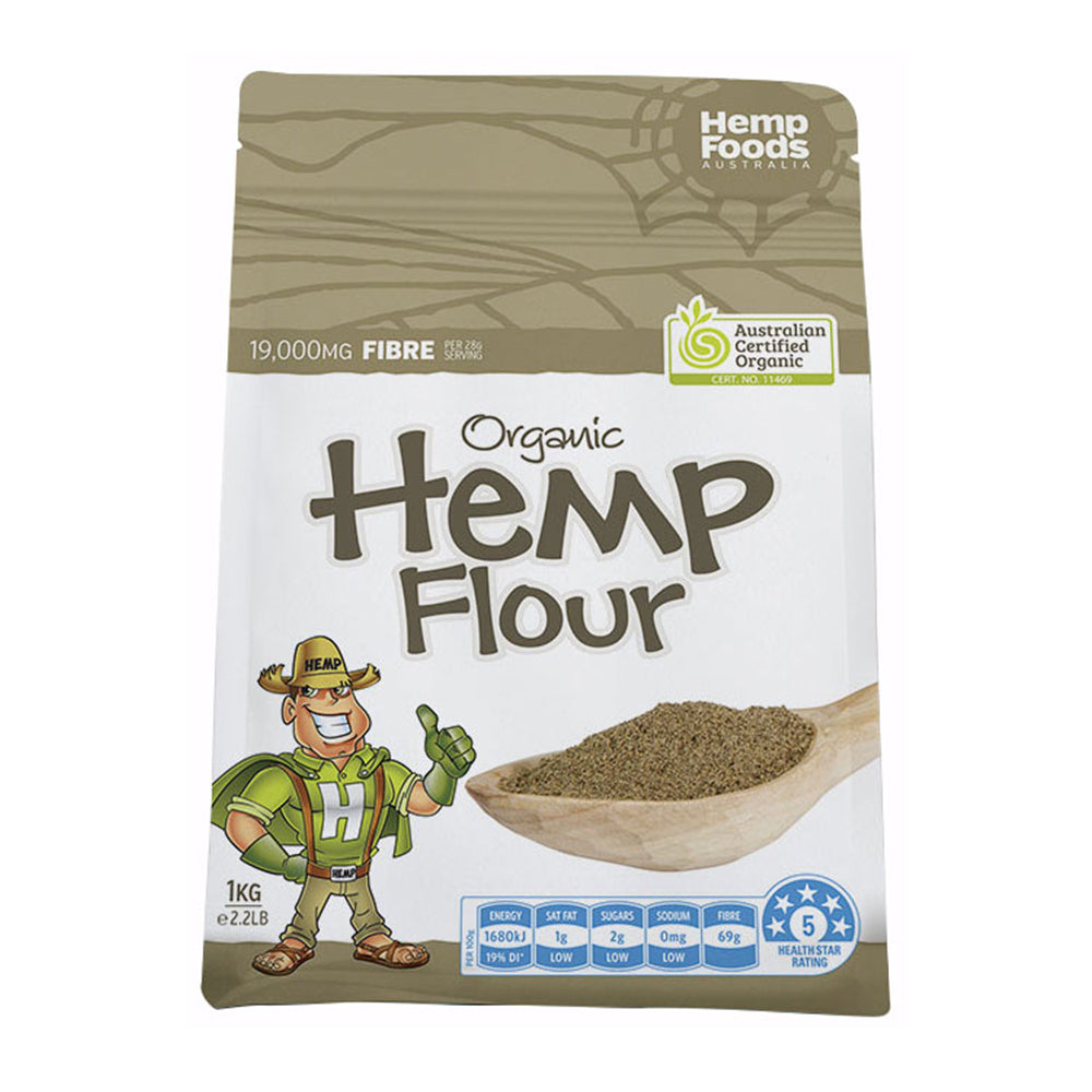 Hemp Foods Australia Hemp Flour Certified Organic 1kg - Essentially Health Online Vegan Health Store Afterpay