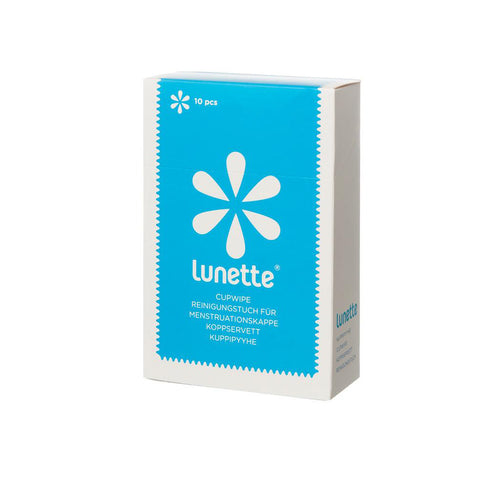Lunette Disinfecting Cup Wipes