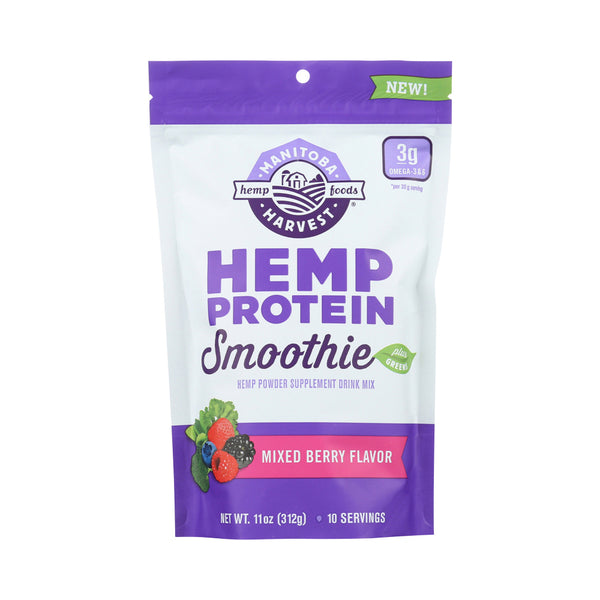 Manitoba Harvest Hemp Protein Smoothie Mix Mixed Berry 312g