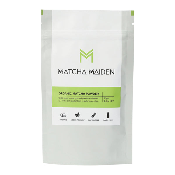 Matcha Maiden Organic Matcha Green Tea Powder 100% Pure Stone Ground 70g - Essentially Health Online Vegan Health Store Afterpay