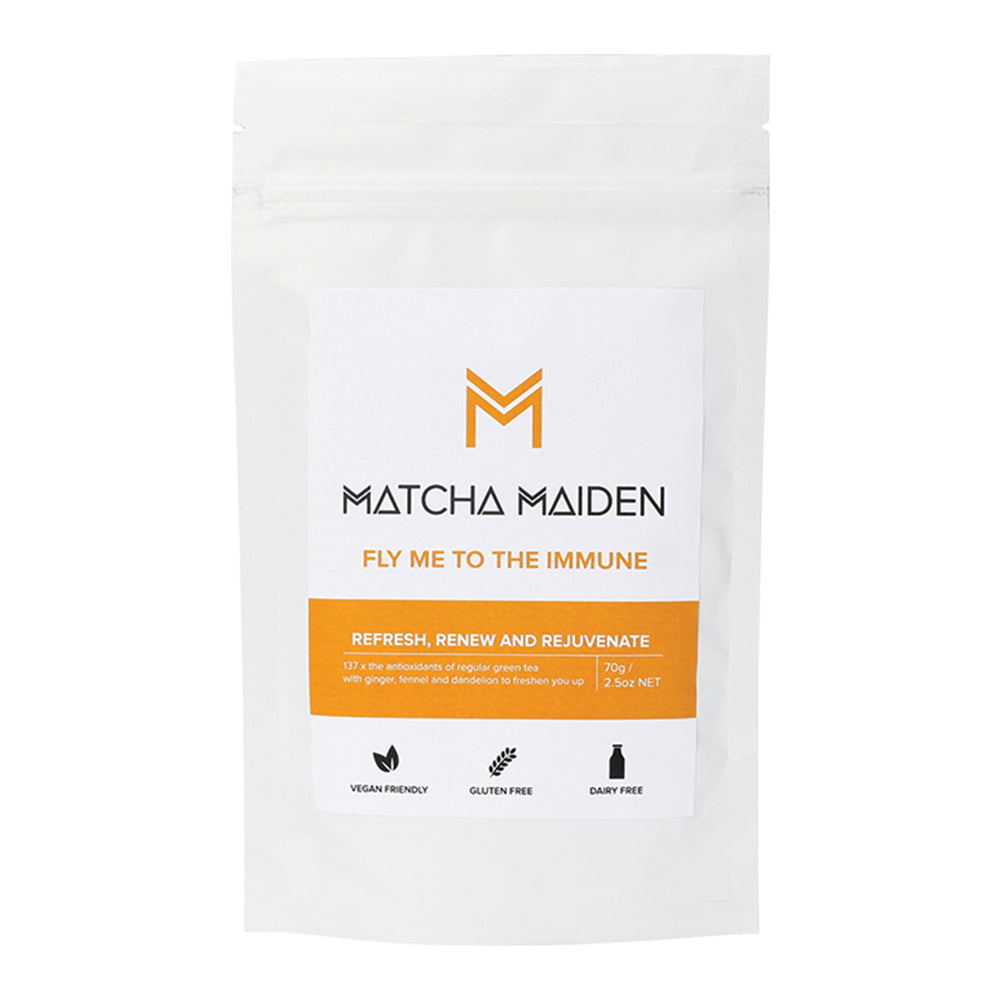 Matcha Maiden Matcha Green Tea Powder Fly Me To The Immune 70g - Essentially Health Online Vegan Health Store Afterpay
