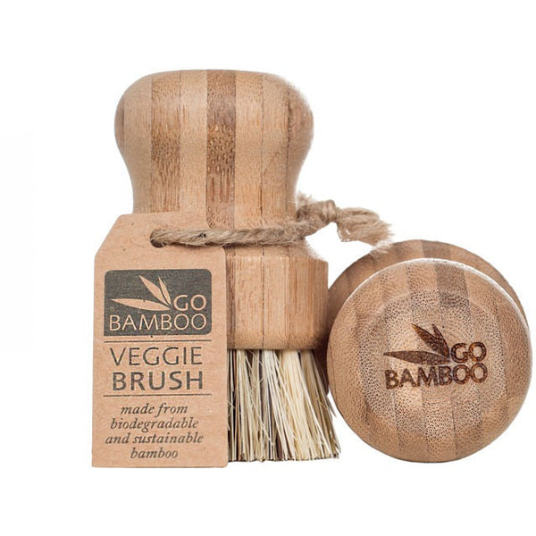 Go Bamboo Veggie Brush - Essentially Health Online Vegan Health Store Afterpay