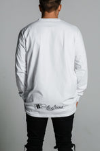 Five Lines 'Insight' Long Sleeve T-Shirt - White (Relaxed Fit)