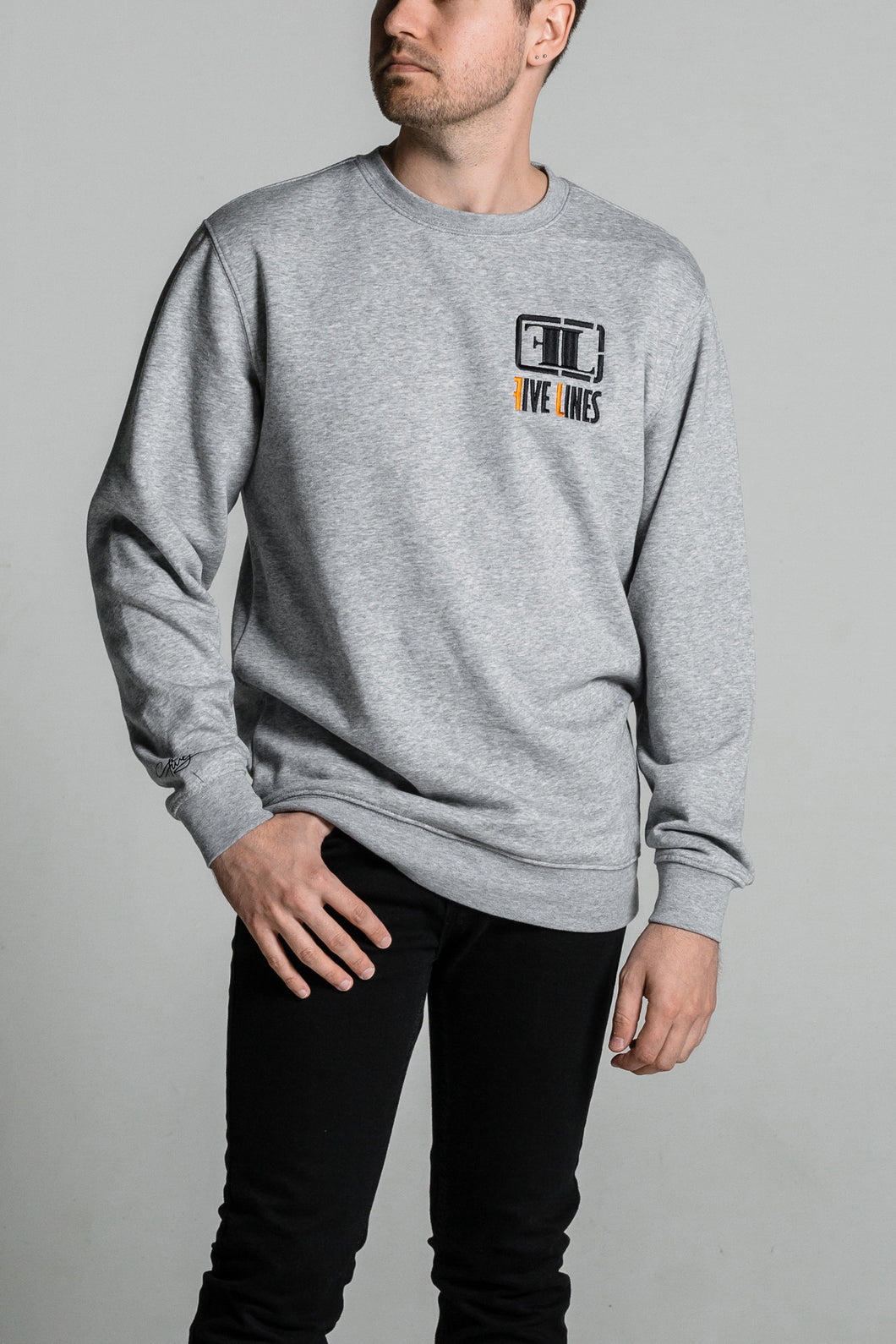 Five Lines 'Filthy Clean' Crew - Grey (Regular Fit)