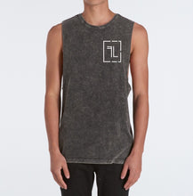 Five Lines 'Simplicity' Sleeveless Tshirt - Black Stonewash (Slim-Regular Fit)