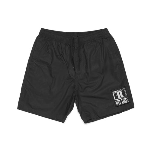 Five Lines 'Essential' Street-to-Beach Short - Black (Regular Fit)