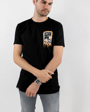 Five Lines 'Sketchy' Tshirt - Black (Slim Fit)