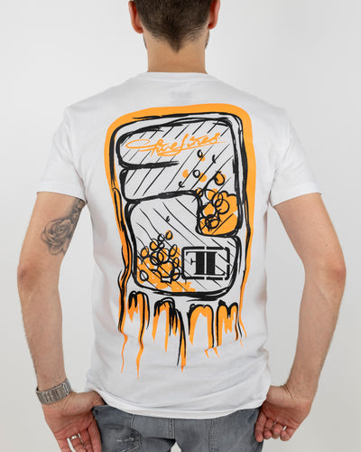 Five Lines 'Sketchy' Tshirt - White (Slim Fit)