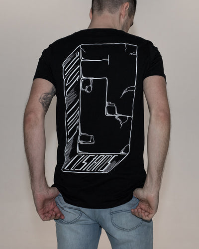 Five Lines 'Rock Solid' T-Shirt - Black (Slim-Regular Fit)