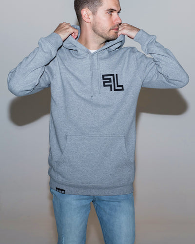 Five Lines 'Wreckless' Hoodie - Grey (Regular Fit)