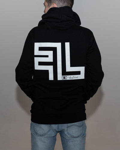 Five Lines 'Wreckless' Hoodie - Black (Regular Fit)