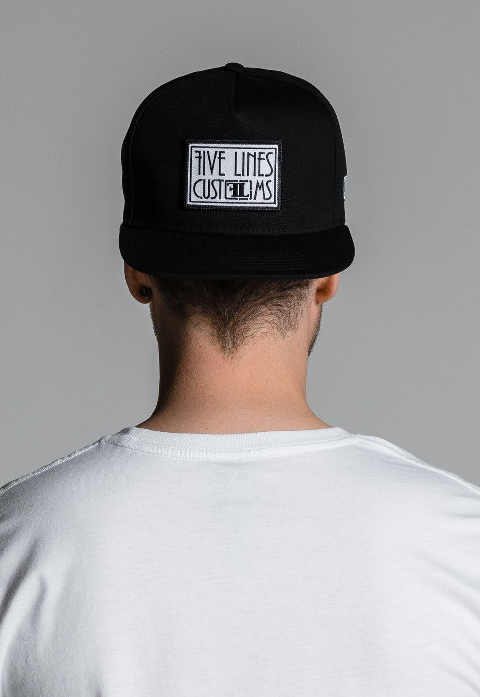 Five Lines 'Patch' A-Frame Snapback Cap