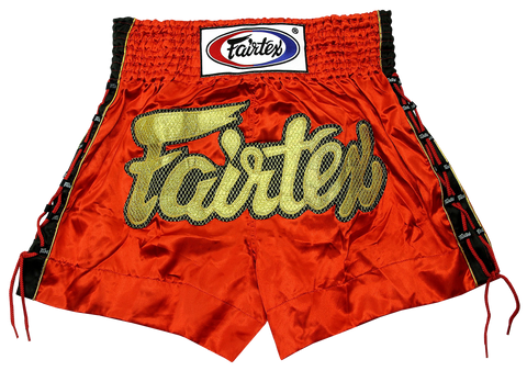 Fairtex Red Muay Thai Shorts with Lace (BS0602)