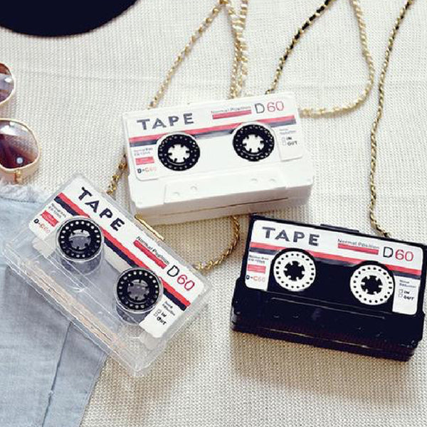 Cassette Tape Acrylic Mini Shoulder Messenger Bag - primatrends.com