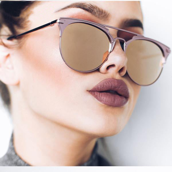 Round Mirrored Sunglasses - primatrends.com