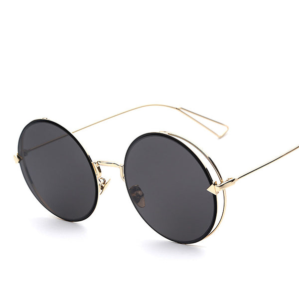 Round Circle Metal Reflective Lens Fashion Sunglasses - primatrends.com