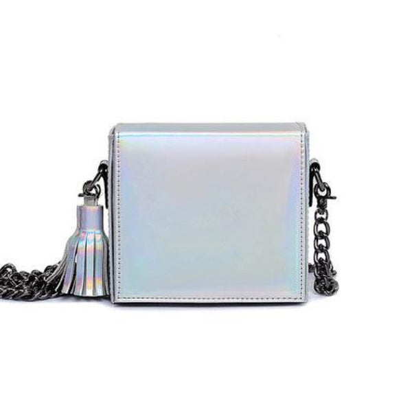 Hologram Square Messenger Handbag - primatrends.com